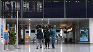 مطار فرانز جوزيف شتراوس في ميونيخ، جنوب ألمانيا، 8 أبريل 2021