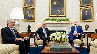 Afgan liderler Beyaz Saray'da ABD Başkanı Joe Biden ile görüştü