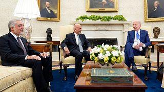 دیدار غنی و عبدالله با بایدن در واشنگتن