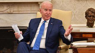 الرئيس الأمريكي جو بايدن في البيت الأبيض في واشنطن العاصمة، 25 يونيو 2021