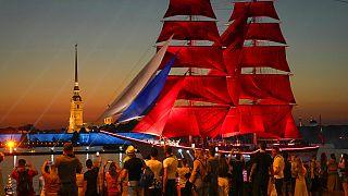 Festival Velas Escarlatas en San Petersburgo, Rusia
