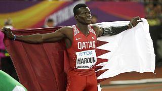 Qatari sprinter Abdalelah Haroun, died Saturday in a road accident