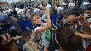 تظاهرات مخالفان پروژه کانال استانبول