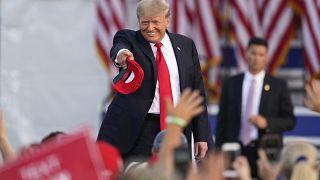 ترامب خلال تجمع انتخابي في أوهايو الأميركية