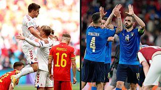 Euro2020: Italia e Danimarca ai quarti di finale