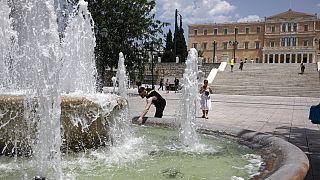 Hőség Athénban