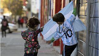 صورة لأطفال في الأرجنتين