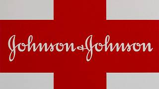 This Feb. 24, 2021 photo shows a Johnson & Johnson logo on the exterior of a first aid kit in Walpole, Massachusetts, United States.