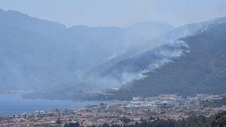 Marmaris'te çıkan orman yangını