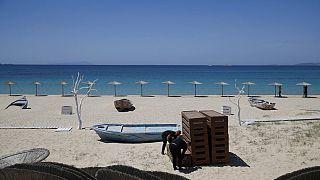 Пляж на Эгейских островах.