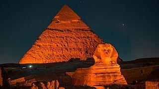 أهرامات الجيزة في مصر. 2021/01/30