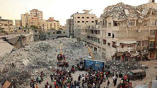 مهرجان موسيقى وسط الأنقاض في قطاع غزة