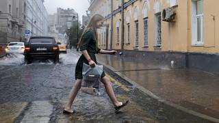 Летний ливень в Москве, июнь 2017 года