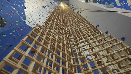 French scouts build record-breaking tower out of wooden building blocks