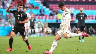 Morata a negyedik spanyol gólt lövi Horvátország ellen.