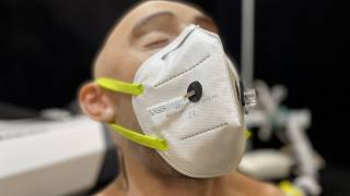 COVID-19 detecting face mask on dummy