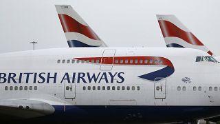 طائرات تابعة للخطوط البريطانية في مطار هيثرو في لندن. 2017/01/10