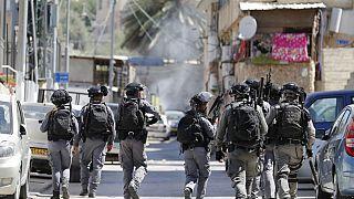 Forze di sicurezza israeliane a Gerusalemme Est