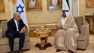 İsrail Dışişleri Bakanı Lapid ve BAE Ekonomi Bakanı Sayeh