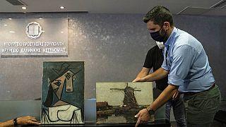 Grecia in festa, ritrovati un Picasso e un Mondrian rubati nove anni fa