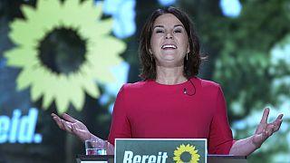 Die Grünen-Kanzlerkandidatin Annalena Baerbock nach ihrer offiziellen Nominierung auf dem Grünen-Parteitag, 12.06.2021
