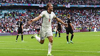 Ο Χάρι Κέιν πανηγυρίσει το 2-0 επί της Γερμανίας