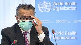 Ο γεν. δ/ντής του Παγκόσμιου Οργανισμού Υγείας δρ Τέντρος Αναντόμ Γκεμπρεγεσούς