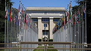 Το κτίριο του Οργανισμού Ηνωμένων Εθνών στη Γενεύη.
