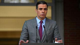 يعقد رئيس الوزراء الإسباني بيدرو سانشيز مؤتمرا صحفيا بعد اجتماع لمجلس الوزراء في مدريد، إسبانيا، 22 يونيو 2021