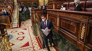 Pedro Sánchez en el Congreso de los Diputados de España