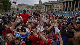 Supporteurs de l'équipe d'Angleterre, à Londres, ce mardi 29/06/2021