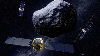 La misión Hera de la ESA controlará hasta dónde ha conseguido desplazar un asteroide el DART de la NASA