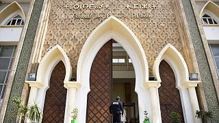 أمام محكمة سلا قرب العاصمة المغربية، الرباط.