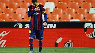 Leo Messi durante un partido