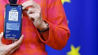 Ursula von der Leyen bizottsági elnök bemutatja az EU digitális app-jét