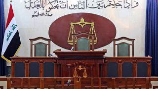 غرفة المحاكمات في محكمة بغداد في العراق