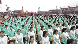تصاویری از رژه نظامیان در جشن صد سالگی حزب کمونیست چین