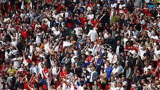 Supporteurs anglais lors de l'Euro-2021, au stade de Wembley (Londres), le 01/07/2021