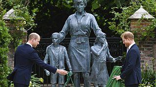 """Diana Statue in den """"Sunken Gardens"""", der Lieblingsort der Prinzessin, 1.7.2021"""