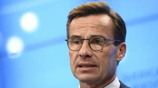 Swedish Moderate Party leader Ulf Kristersson speaks during a press conference in Stockholm.