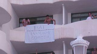Imagen del hotel donde están confinados los estudiantes afectados por el macrobrote