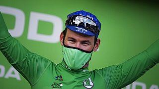 Le Britannique Mark Canvendish, vainqueur d'une 32ème étape sur le Tour de France - Chateauroux, le 01/07/2021