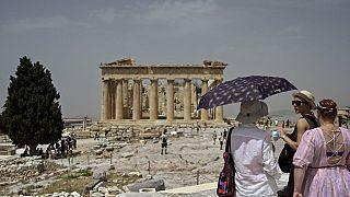 Hitzewelle in Athen in Griechenland