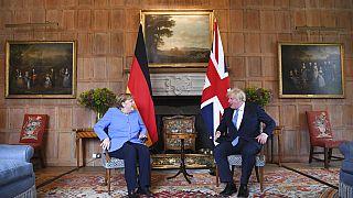 Der britische Premierminister Boris Johnson hat Bundeskanzlerin Angela Merkel auf seinem Landsitz in Chequers getroffen, 02.07.2021