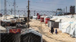 مخيم الهول في شمال شرق سوريا