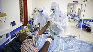 Patient Covid-19 soigné dans un hôpital à Machakos (Kenya), le 17/06/2021