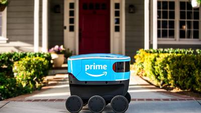 The Amazon Scout delivery robots resemble those made by Estonia-based Starship, which launched them in 2014.