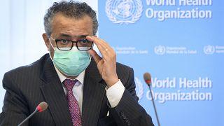 المدير العام لمنظمة الصحة العالمية تيدروس أدهنوم غيبريسوس