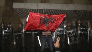 Three senior police officers were among those arrested, Albanian authorities said.