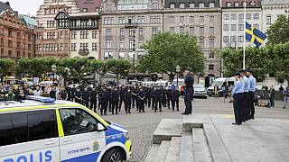 A minute of silence was held on the Stortorget square in Malmo on Thursday.
